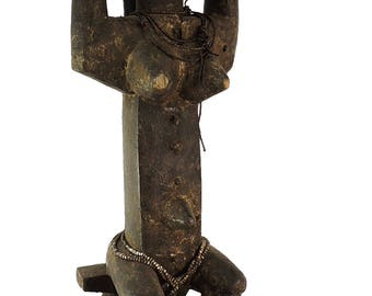 Attye Seated Female with Barrel on Head Lagoon African Art 100523