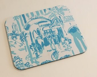 Mouse Pad  made with Lilly Pulitzer Signature Fabric  La Via Loca