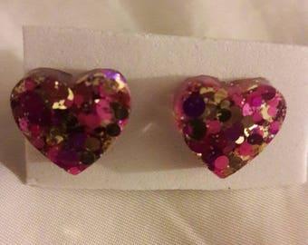 Be my heart stud earrings