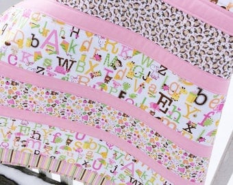 Baby Girl Handmade Quilt Sweet Baby Girl Fabric Riley Blake