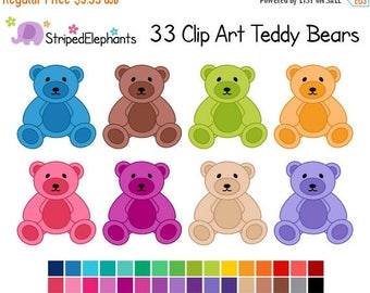 40% OFF SALE Teddy Bear Clipart - Digital Clip Art - Instant Download - Commercial Use