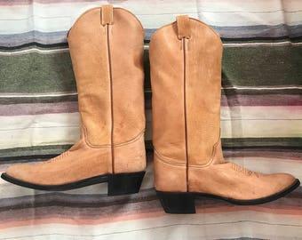 Vintage Men's Larry Mahan Texas Cowboy Boots 9.5