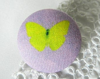 Fabric Button, Butterfly, 32 mm / 1.25 in