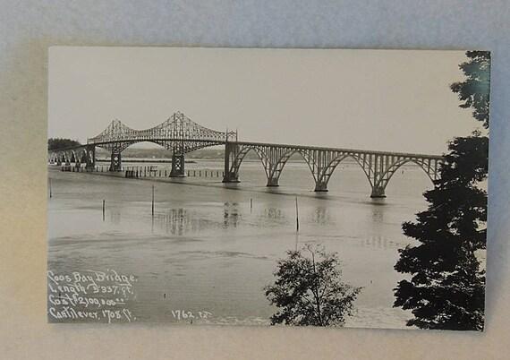 1930s Patterson Photo RPPC 1672 Real Photo Postcard.. Coos Bay Bridge Oregon