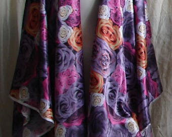 Roses Open Front Shawl ruana shawls and wraps evening shawls ruana wrap prayer shawl scarf shawl bridal shawl fantasy womens clothing plus