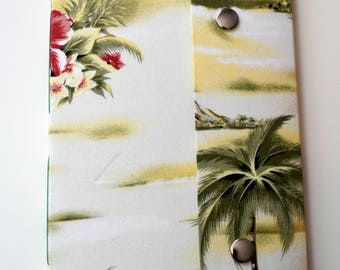 Handmade Sketchbook Hawaiian Fabric Print - OOAK
