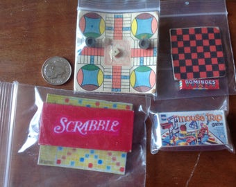 Games for Dollhouse set of 4