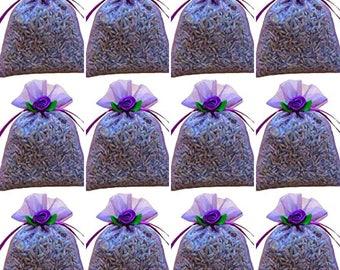 BULK LAVENDER SACHETS: 12-count (decorated) Zziggysgal French Lavender Sachets