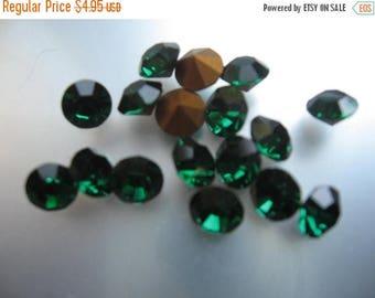 SPECIAL Vintage Swarovski Emerald Rhinestones Art.1100 ss29 6.14-6.32mm QTY - 6