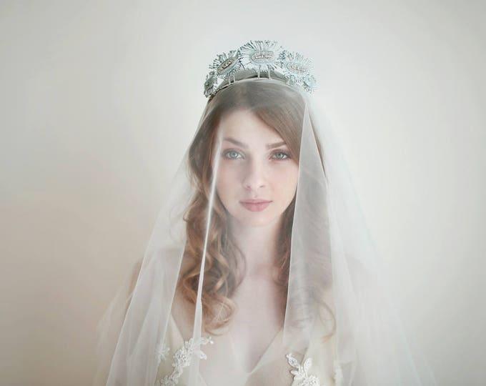 Bridal Veil, Tulle Veil, Wedding Veil, White Veil, Ivory Veil, Shoulder Length Veil