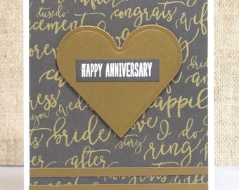 Happy Anniversary Card- Anniversary Card- Love Card- Golden Anniversary- Happy Anniversary