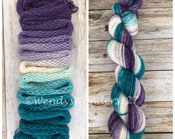 Gradient Dyed Yarn, Hand dyed yarn, Gradient yarn, Wool Yarn, Worsted Weight