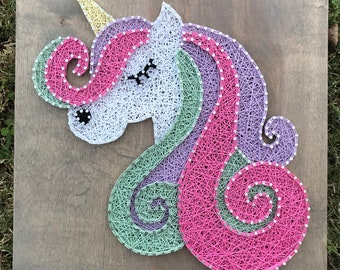 String Art Unicorn