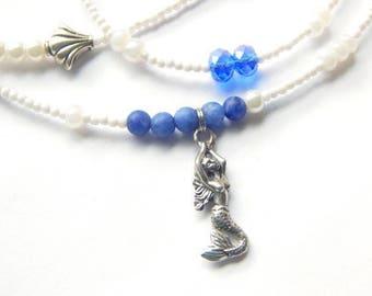 Yemaya Waist Beads, Indigo Orisha Sodalite Waist Beads, Ocean Goddess Waist Beads, Spiritual Waist Beads