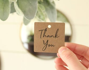 Thank You Tags | Wedding | Bridal Shower | Thank You Favors | Birthday Party | Thank You Gift Tags | 20 Tags
