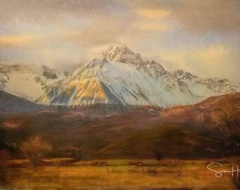 Snowy Mount Sneffles - Colorado Winter - Colorado - San Juan Mountains - Mount Sneffles - Canvas Gallery Wrap - No Frame Needed
