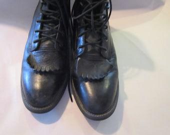 Ariat black leather boots sz 6.5 womens boots excellent