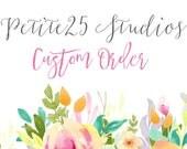 Custom order for: Gina
