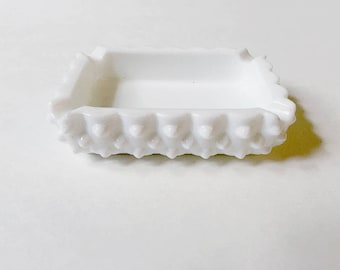 Vintage Milkglass Trinket tray/Ashtray