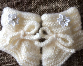 Knitted Baby Boots.Knit Baby Shoes.Hand Knitted Baby Socks.