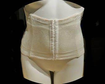 Vintage Waist Cincher White  2XL #343