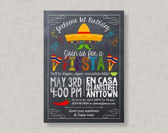 Fiesta Invitation, Fiesta Birthday Invitation, Fiesta Birthday Party, Cinco de Mayo, Printable