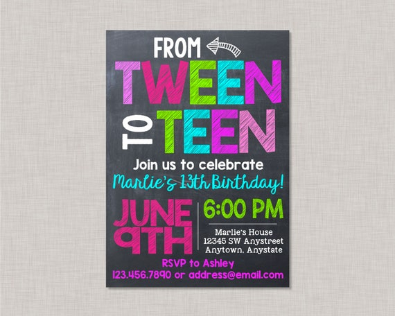13th Birthday Invitations13th Birthday Invitations GirlTween to