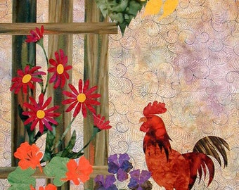 Rooster quilt   Etsy : rooster quilt pattern - Adamdwight.com