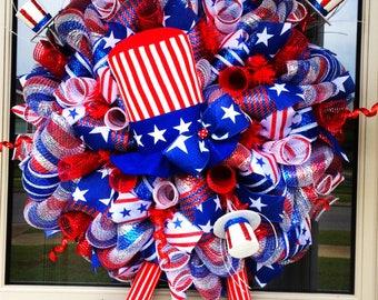 Patriotic Uncle Sam Wreath