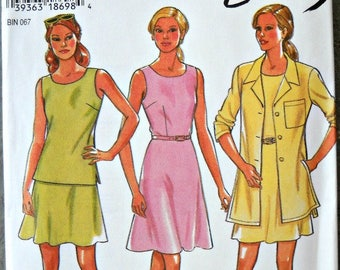 New Look 6468, Women's Shirt, Top, Skirt, and Dress Pattern, Sizes 6 through 16, Factory Folded Uncut