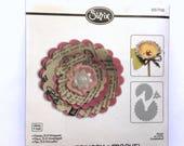 Sizzix Die Bigz 657116 Flower, 3D Wrapped Die -Scrapbooking DIY Papercrafting - Big Shot / Kick Vagabond Cutting Tools