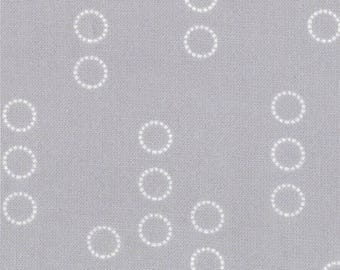 18525-13 Circles in Cloud Gray, A Walk in the Woods by Aneela Hoey for Moda