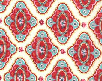 Liz Scott Fabric, Domestic Bliss by Liz Scott for Moda Fabrics, 18071-17 At the Table Cream