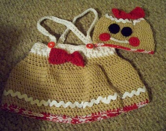 Little Miss Gingerbread Crochet Outfit