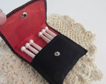 Vintage Petit Point Roses Miniature Travel Lingerie Clothes Line