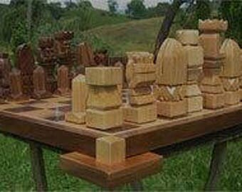 Mayan Chess Set for Colton