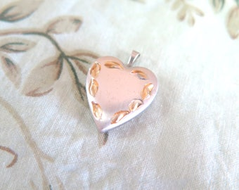 Stainless Steel and Gold Tone Locket