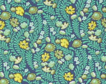 Fabric by the Yard - Eden in Wildflower Sapphire by Tula Pink