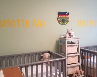 Vinyl Name Wall Safe Removable Letters Custom Personalized Stickers Temporary Damage Free Nursery Crib Kid Child Bedroom Room