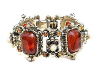 Vintage Florenza Baltic Amber Bracelet