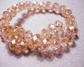 Crystal Beads Faceted Peach AB Rondelles 8x5MM
