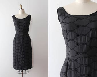 vintage 1950s Jerry Gilden dress // 50s cotton wiggle dress
