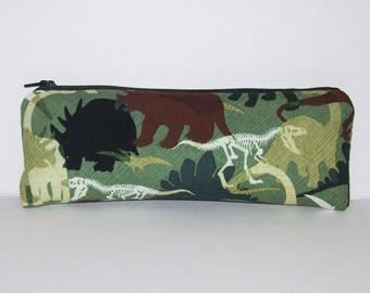 "Pipe Pouch, Dinosaurs Bag, Green Bag, Pipe Case, Glass Pipe Bag, Padded Pipe Pouch, Stoner Gifts, 420, Weed, Smoke Accessory - 7.5"" LARGE"