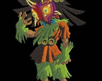Legend of Zelda Skull Kid Machine Embroidery Design 5x7