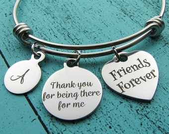 friendship bracelet, best friend gift, friends forever, bff gift, besties gift, thank you for being there for me, friends birthday Christmas