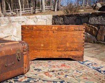 DISCOUNTED Vintage Cedar Blanket Chest Trunk