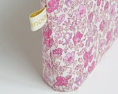 """Liberty of London Waterproof Coated Fabric Cosmetic Bag / Makeup Pouch """"Meadow"""""""