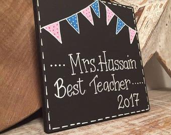 Fiver Friday, Best Teacher Sign, Wooden Sign, leaving present, wooden teacher, teacher gift, school teacher, teacher present