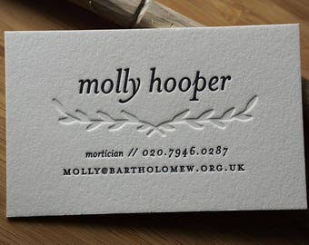 The Lyricist – Custom Letterpress Printed Calling Cards 100ct