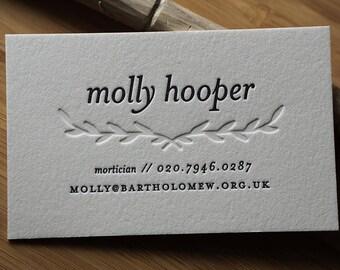 The Lyricist – Custom Letterpress Printed Calling Cards 100ct